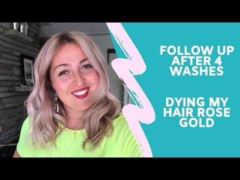 My rose gold hair after 4 washes | Moroccan Oil Color Depositing Mask