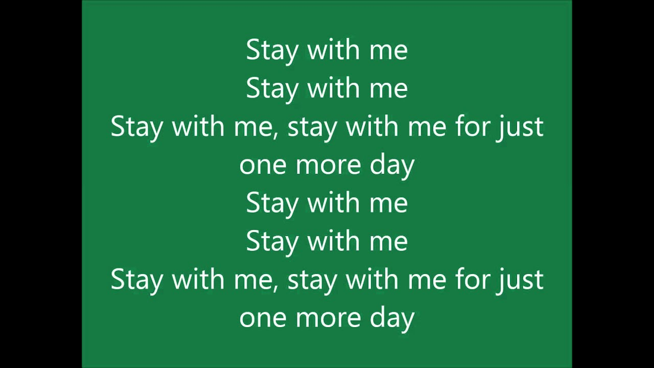 Example - One more day (Stay with me) LYRICS - YouTube