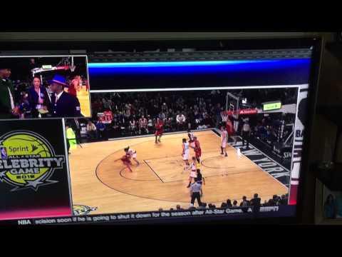 Abhishek Bachan shooting at NBA all star 2015