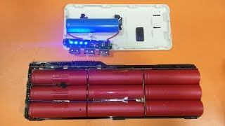 How to Make a 20000 mAh Power Bank from Scrap Laptop Battery Homemade, electronics
