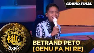 Lincah BGT Penampilan Betrand Peto [GEMU FA MI RE] - Grand Final KDI 2019 (18/10)