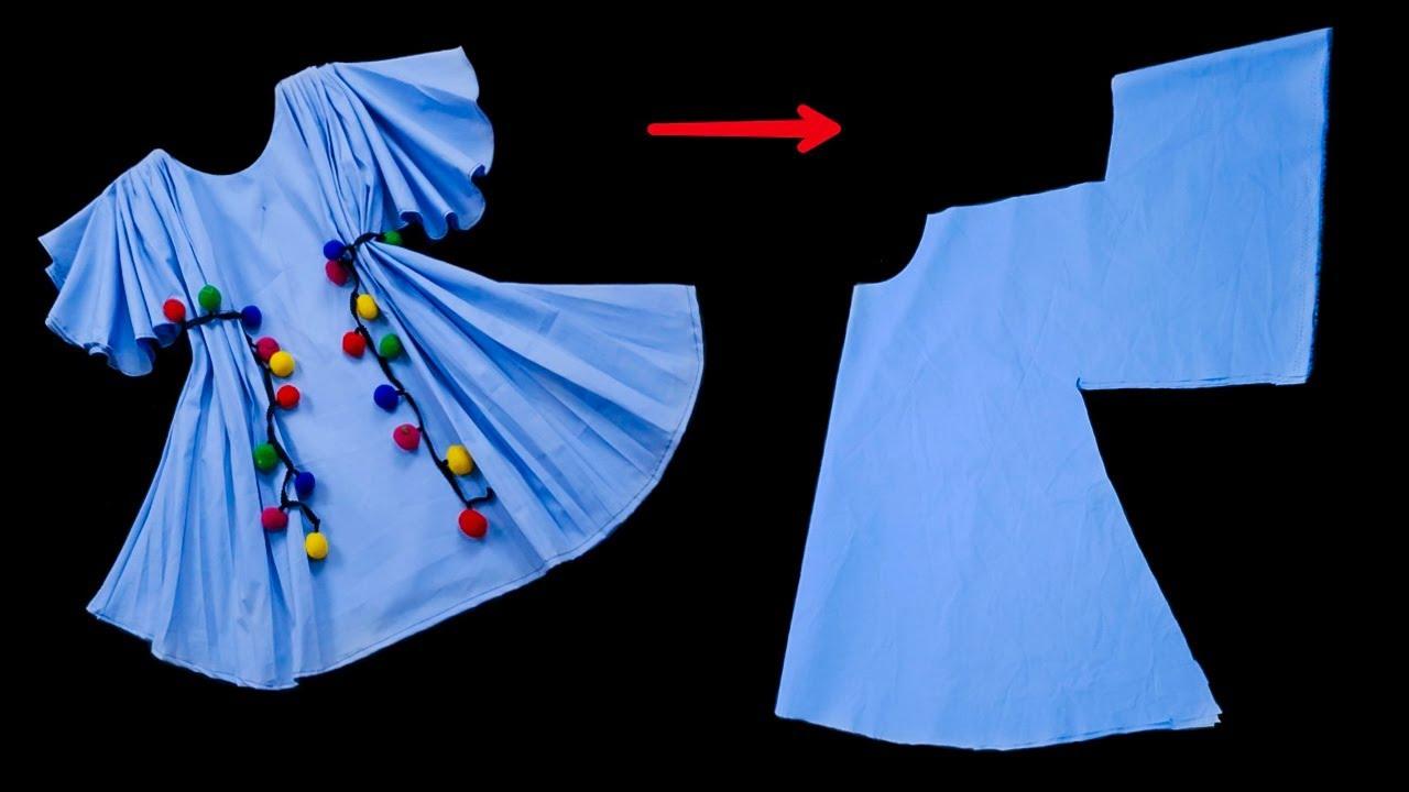 فكرة مذهلة في قص و خياطة فستان طفلة ستدهشك و بكل بساطة