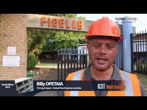 K3T Wall System - Fire Test - CSIR Pretoria South Africa.