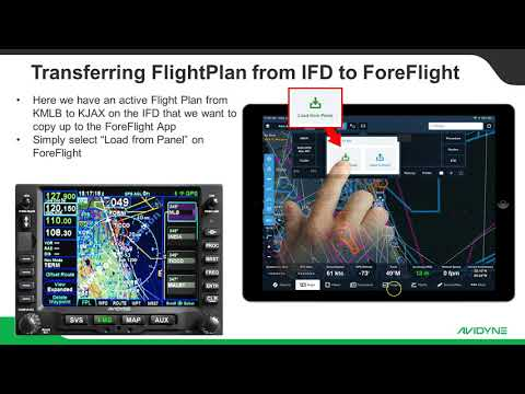 ForeFlight to Avidyne IFD - FlightPlan Transfer