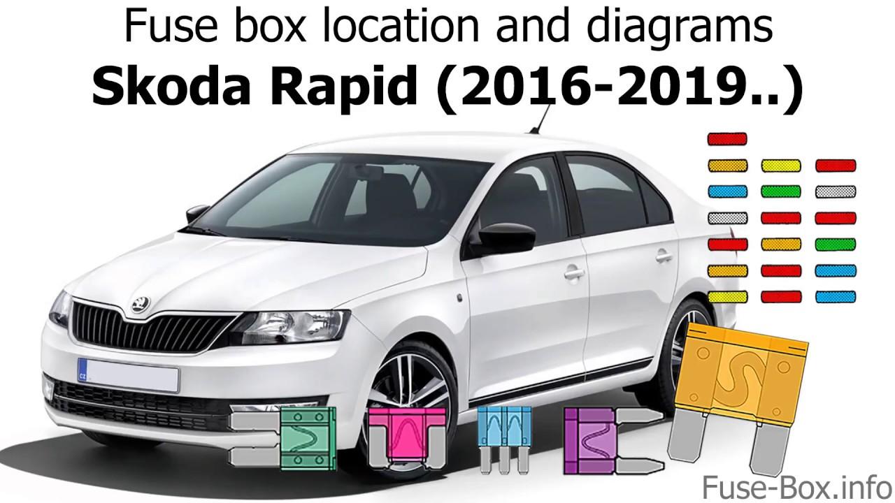 fuse box location and diagrams skoda rapid 2016 2019 youtube rh youtube com  skoda rapid 2013 fuse box diagram