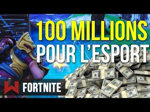 🔥 100 MILLIONS DE DOLLARS POUR L'ESPORT SUR FORTNITE !