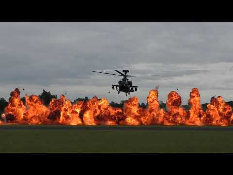 Apache Helicopter Display