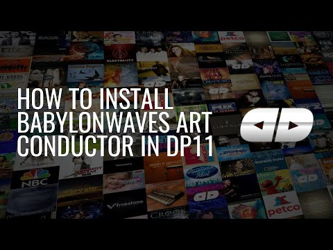 How to install BabylonWaves Art Conductor in DP11