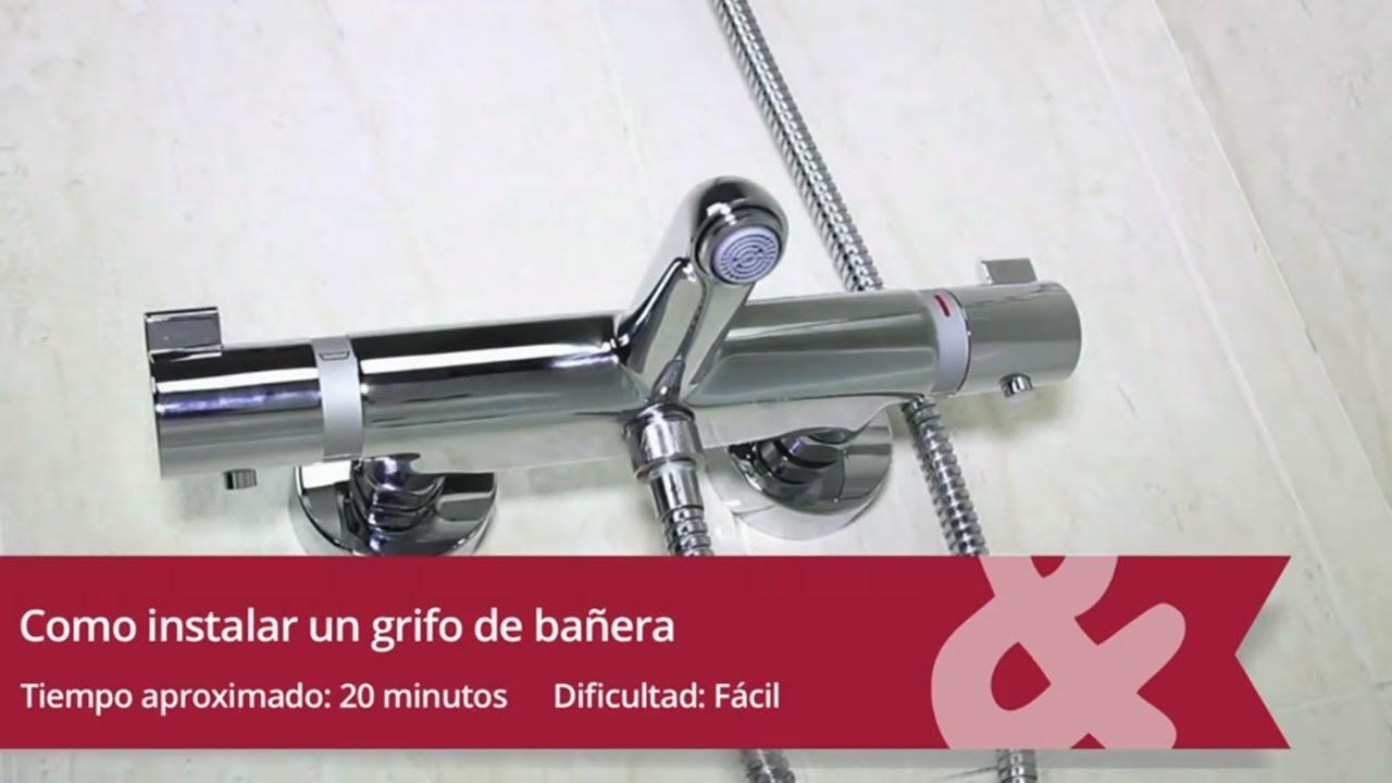 C mo instalar un grifo de ba era o ducha youtube for Grifos de ducha termostaticos precios