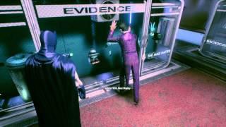 BATMAN: ARKHAM KNIGHT Joker interaction in Evidence Locker