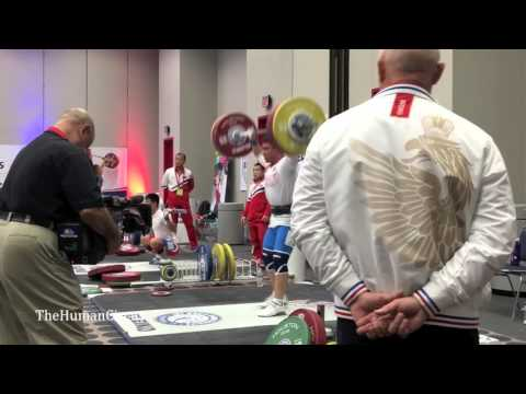 2015 IWF World Championships - Men's 69 A warmup room