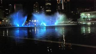 Suria KLCC Musical Water Fountain Light Show with Titanic Song My Heart Will Go On