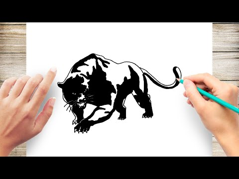 Coloring pages Black Panther. Superhero Marvel Free   360x480