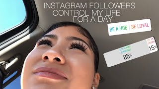 INSTAGRAM CONTROL MY LIFE FOR A DAY