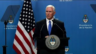 Pence: US Won't Stand By as Venezuela 'Crumbles'
