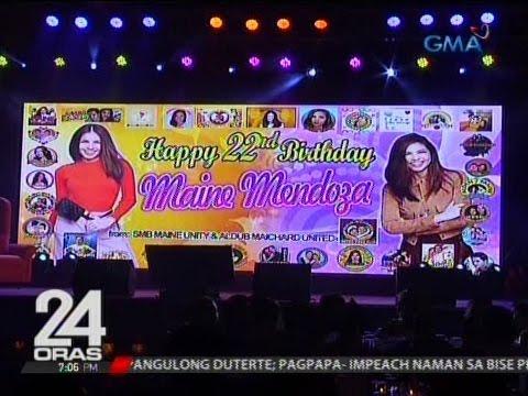 Maine Mendoza, binigyan ng post-birthday celebration ng nasa 700 fans niya mula sa 32 fans clubs