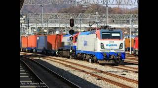 코레일 8552호, 7482호 컨테이너 화물열차 순천역…