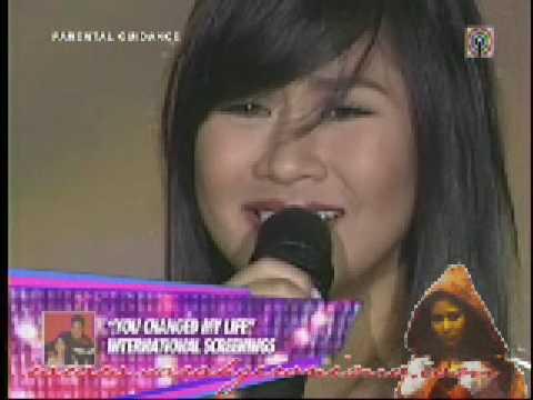 Kung Ako na Lang Sana- Sarah Geronimo (ASAP 09- 3/8/09) with John Lloyd's kiss!