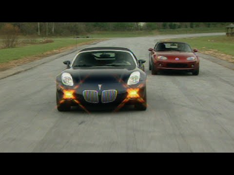 MotorWeek | Retro Review: '06 Miata vs Solstice