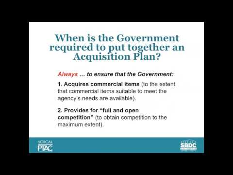 Part 2: How The Government Plans Its Contracts
