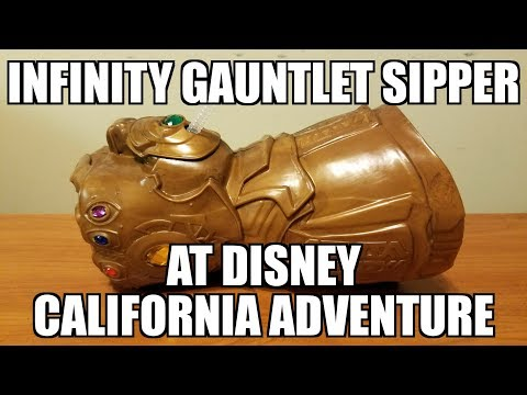 Avengers Infinity Gauntlet sipper from Disney California Adventure