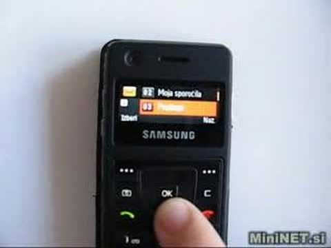 Samsung F300 Review Unboxing MiniNET.si