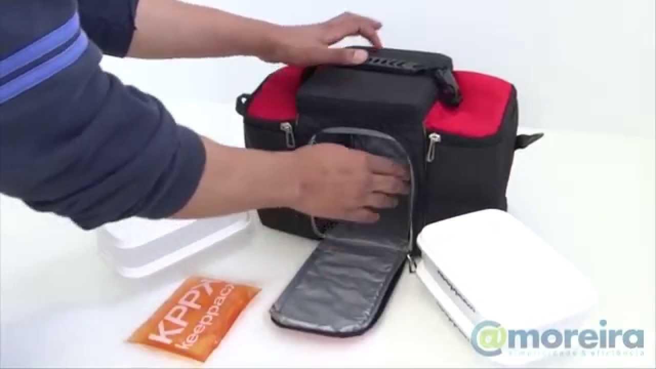 Bolsa Para Transporte De Insulina : Bolsa termica keeppack compartimentos alimenta??o dieta