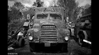 Abandoned Military Vehicle Graveyard Full Of Old War Vehicles - Urban Exploration Scrapyard Boneyard