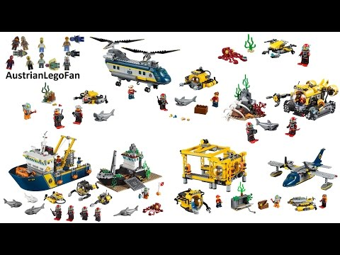All Lego City Deep Sea Explorers Sets 2015 - Lego Speed Build Review