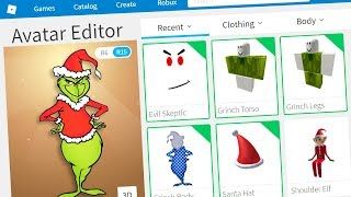MAKING THE GRINCH A ROBLOX ACCOUNT!