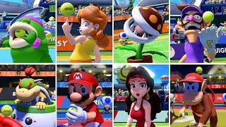 Mario Tennis Aces - All Character Idle Animations (DLC Included)