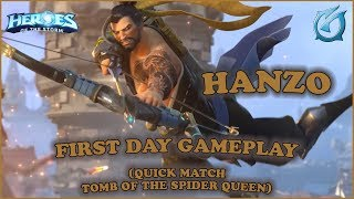 Grubby   Heroes of the Storm - Hanzo - First Day Gameplay - QM - Tomb of the Spider Queen