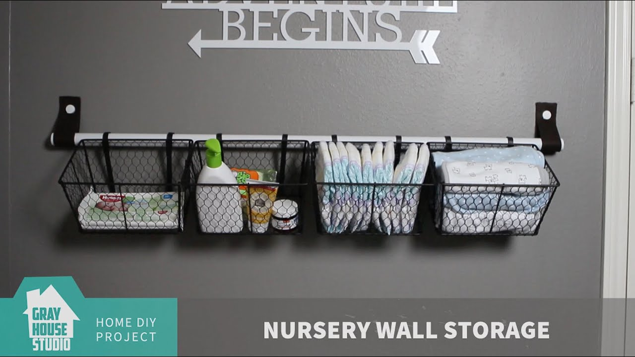 Nursery Wall Storage & Nursery Wall Storage - YouTube