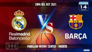 FINAL COPA DEL REY 2021 // REAL MADRID vs BARCELONA // 1ª PARTE