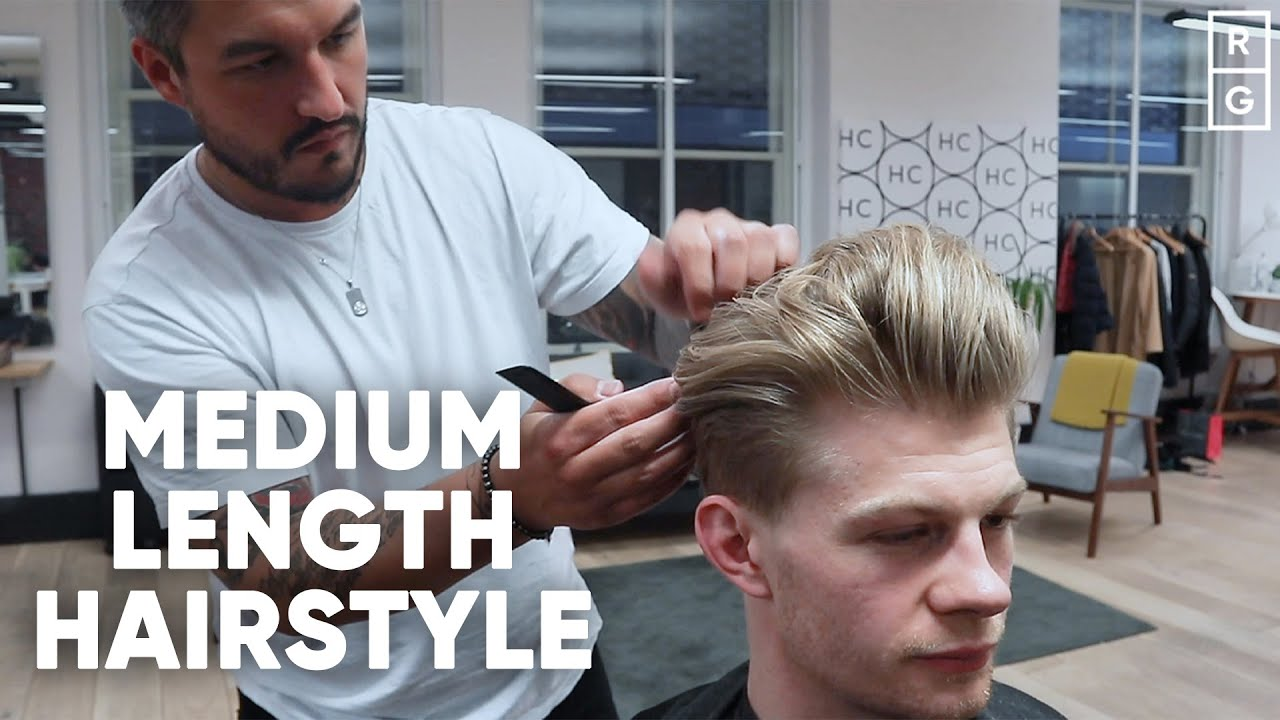Medium Length Hairstyle For Men With Undercut And Fade Youtube