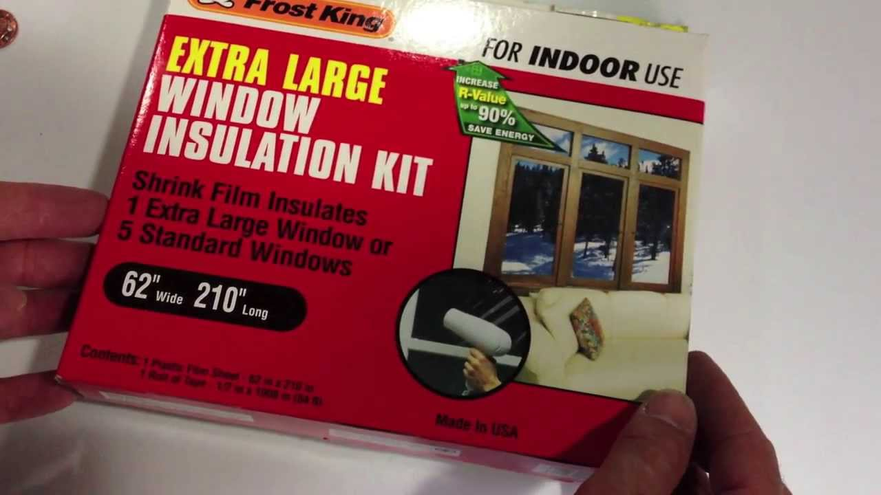 Frost King Window Insulation Kit Product Info Youtube