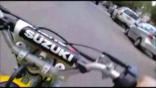 Riding a Suzuki RM 65 two stroke