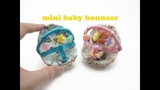 DIY Miniature Doll Mini Baby Bouncer