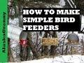 3 Easy Bird Feeders To Make