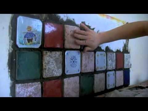 Come realizzare un mosaico artigianale per la cucina  Alice Romoli  YouTube