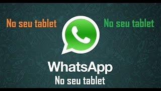 Como instalar Whatsapp no Tablet sem chip (MUITO F?CIL)