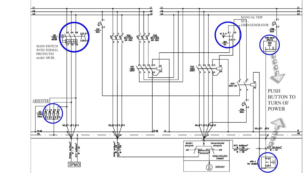 emergency power system connection scheme grid generator [ 1280 x 720 Pixel ]