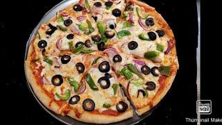 pizza hut style fajita pizza with homemade dough   best homemade pizza recipe