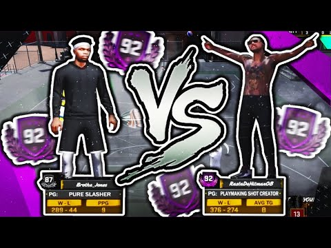 92 OVERALLS GET DROPPED OFF!! BEST PURE SLASHER BUILD NBA 2K18!