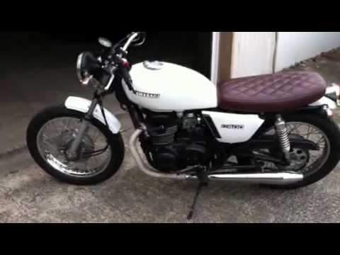 1977 kawasaki kz400, seamless norton peashooter style exhau - youtube