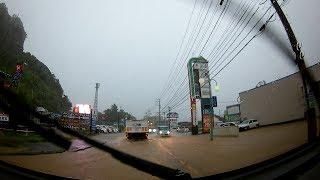 大雨 7月1日早朝 鹿児島県 姶良市→加治木町 ドライブレコーダー