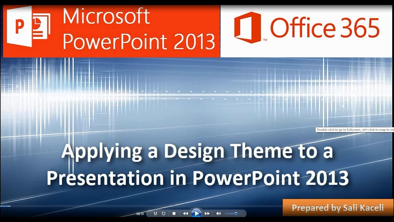 Applying a design theme to a presentation in powerpoint 2013 5 of applying a design theme to a presentation in powerpoint 2013 5 of 18 youtube toneelgroepblik Image collections