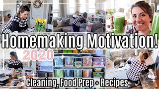 HOMEMAKING + CLEAN WITH ME 2020 :: FRIDGE MAKEOVER! HEALTHY MEAL PREP, RECIPES & CLEANING MOTIVATION