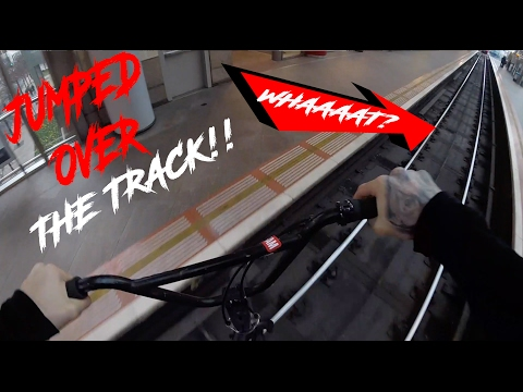 *CHASED BY SECURITY* JUMPING OVER TRAIN TRACK!
