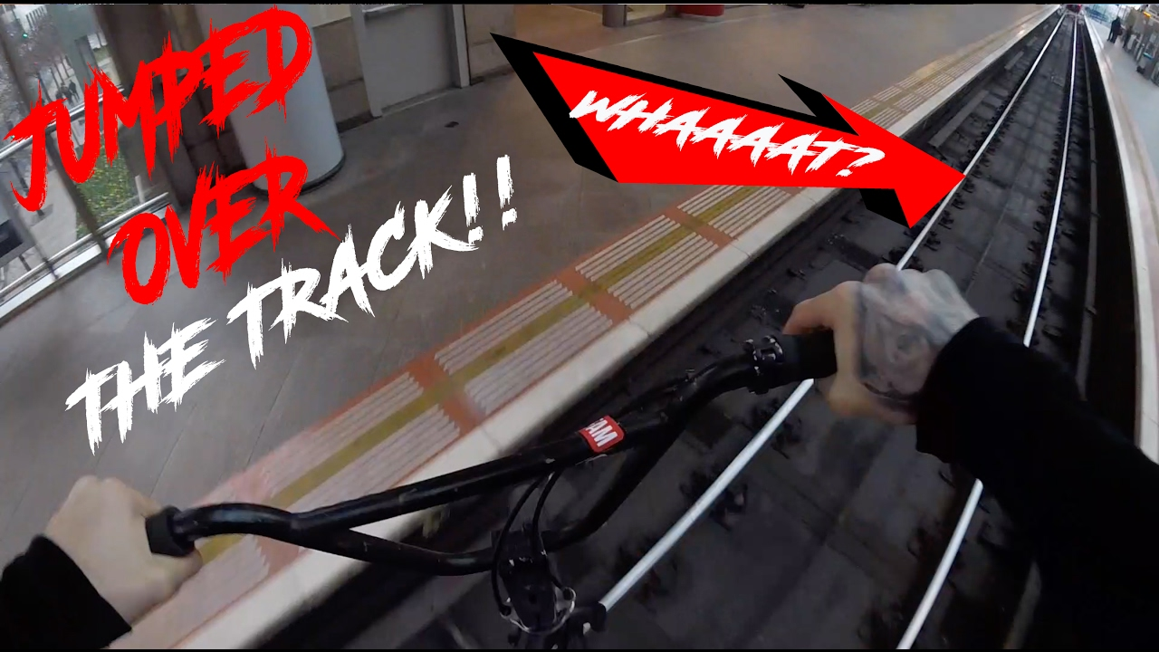 Download *CHASED BY SECURITY* JUMPING OVER TRAIN TRACK!